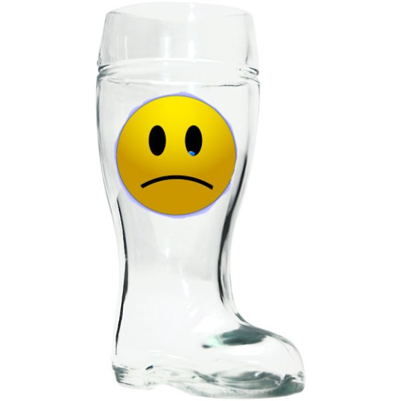 A German beer boot