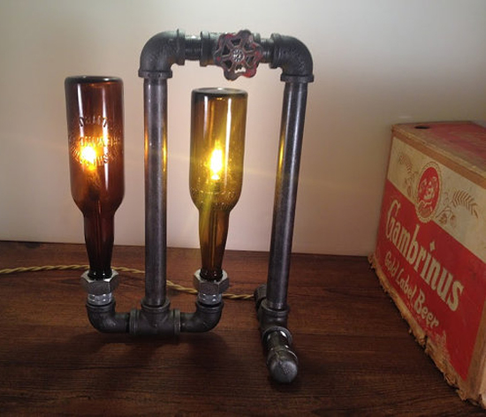 Vintage Beer Bottle Table Lamp