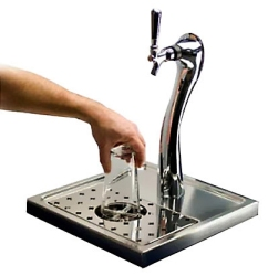 Bar-Top Glass Rinser and Drip Tray