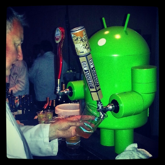 Android Robot Beer Tap at Google I/O 2012 party