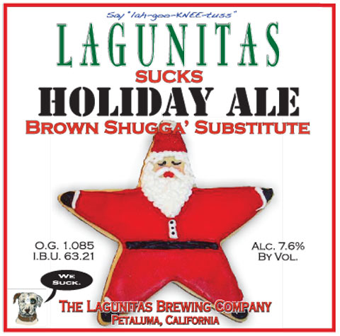 Lagunitas Sucks Holiday Ale label