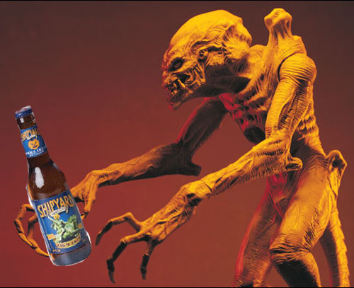 Pumpkinhead with Shipyard Bottle