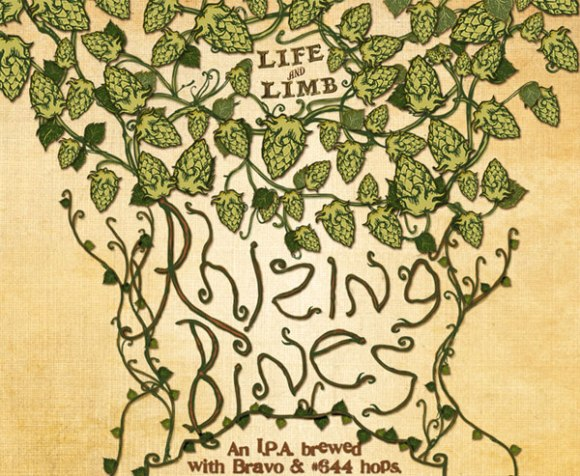 Dogfish Sierra Nevade Rhizing Bines imperial IPA label