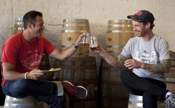 Dogfish Head's Sam Calagione and Brooklyn Brine's Shamus Jones