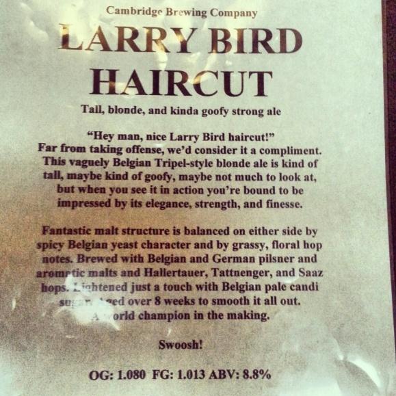 Cambridge Brewing Co. Larry Bird Haircut