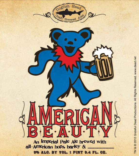 Dogfish Head Grateful Dead American Beauty Imperial Pale Ale