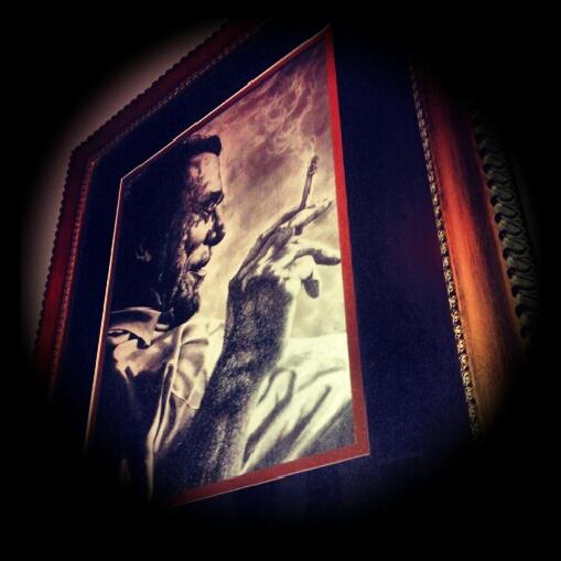Bukowski painting in Bukowski Tavern, Boston