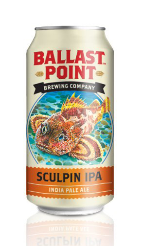 Ballast Point Sculpin IPA in a can