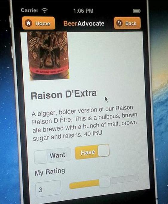 BeerAdvocate.com Mobile Web App