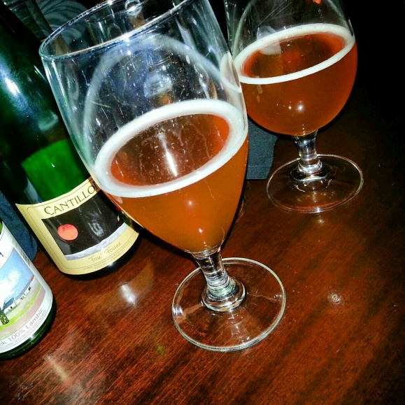 Two Glasses of 2012 Cantillon Zwanze lambic