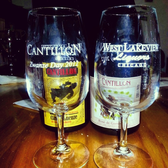 Cantillon Zwanze Day 2012 Tulip Glasses