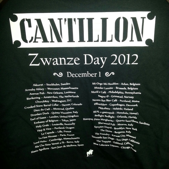 Cantillon Zwanze Day 2012 T-Shirt