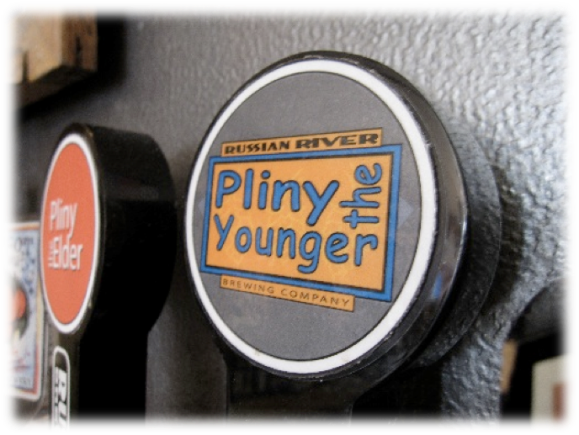 Russian River Pliny the Younger tap handle