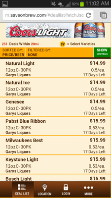 SaveOnBrew.com Beer Deals