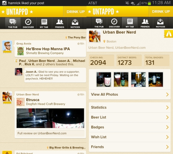 Untappd Beer App Supporter on Android