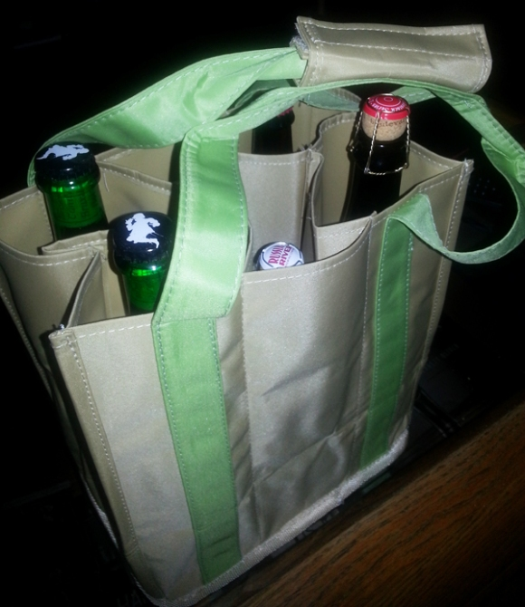 Beer Bottle Tote Bag