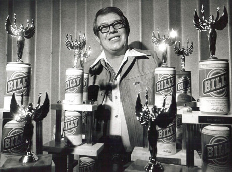 Billy Carter with Billy Beer