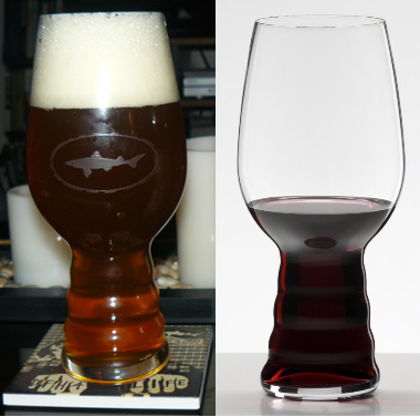 Dogfish Sierra Spiegelau IPA Glass and Riedel Wine Tumbler