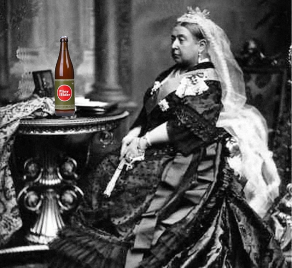 Queen Victoria with Pliny the Elder IPA
