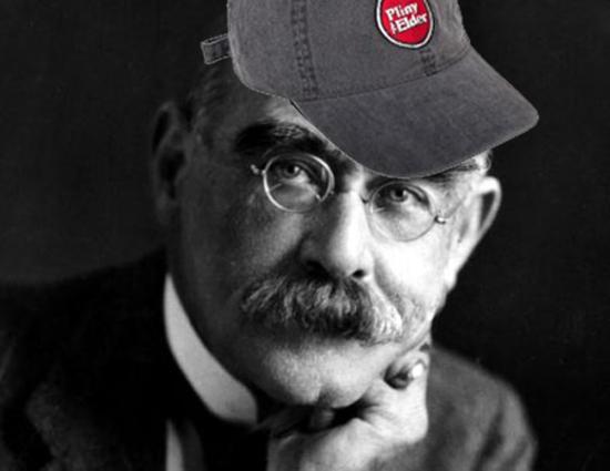 Rudyard Kipling in a Pliny the Elder hat
