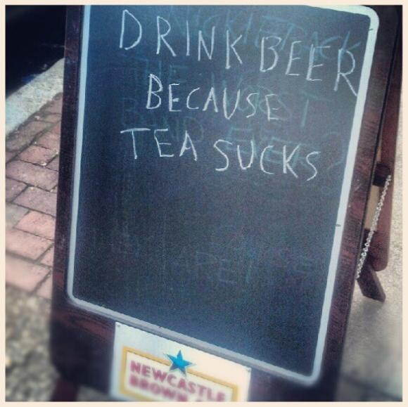 Bar sign drink beer tea sucks