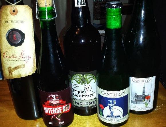 Belgian beer bottles Cantillon Fantome 3F Rodenbach
