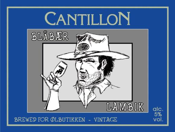 Cantillon Blåbær Blueberry Lambic label