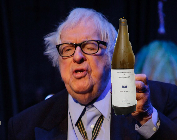 Ray Bradbury with Maine Beer Company Lunch bottle