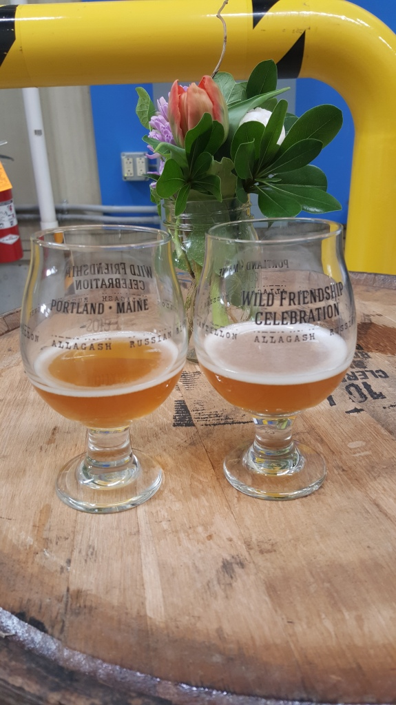 Cantillon's 2013 Fou' Foune, in Allagash's commemorative Wild Friendship Celebration glasses.