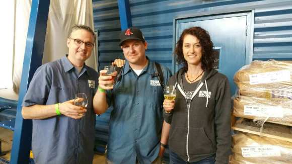 UBN Al drinks Supplication with Russian River's Vinnie Cilurzo and his wife Natalie